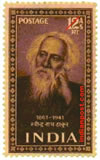 RABINDRANATH 0342 Indian Post