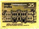 SCOTTISH CHURCH COLLEGE CALCUTTA 0981 Indian Post